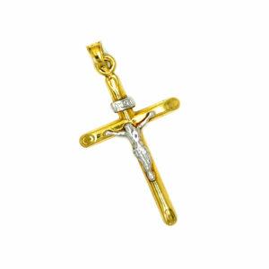 Złoty krzyżyk zawieszka 585 ZZW116
