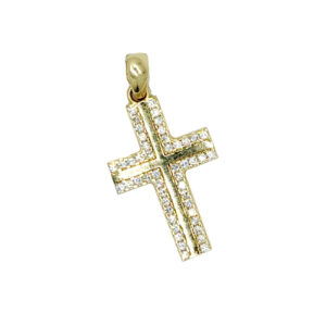Złoty krzyżyk zawieszka 585 ZZW120