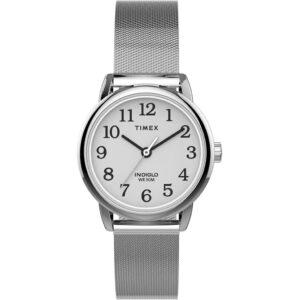 Timex TW2U07900 Easy Reader Zegarek damski srebrny mesh
